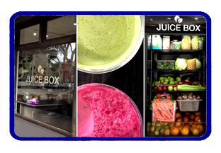 Juice box smoothie shop
