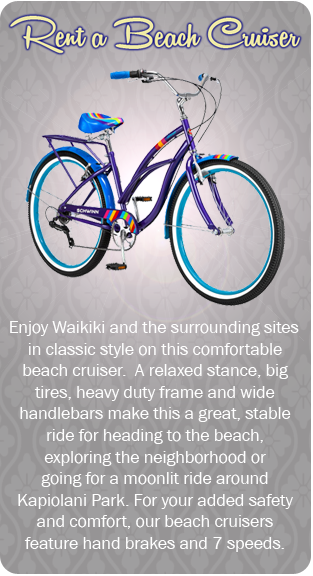 Rent a Beach Cruiser in Waikiki